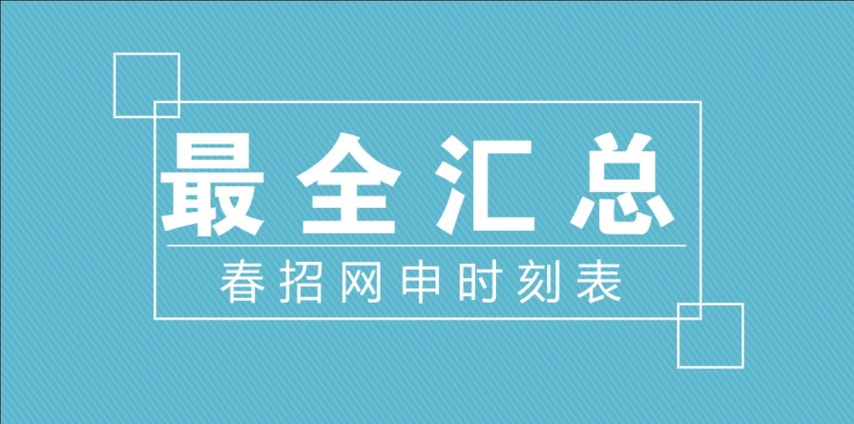 最全汇总   互联网名企春招网申时刻表来了!