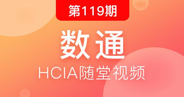 第119期华为数通HCIA