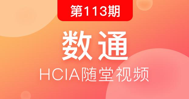 第113期华为数通HCIA