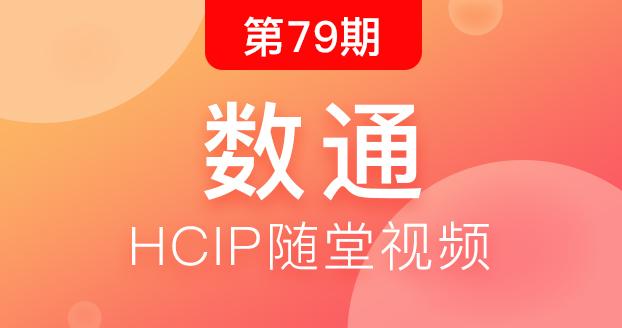 第79期华为数通HCIP